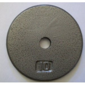 10 lb. Grey Cast Iron Standard Plates (Pair)