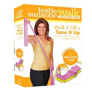 Leslie Sansone Walk Off Tone Up Toning Bands DVD Set