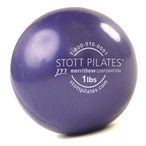 Stott Pilates Toning Ball (Purple, 1 Pound)