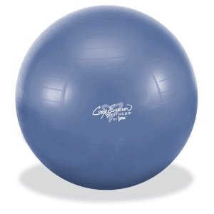 Cory Everson 75cm Anti Burst Fitness Ball Set with instructional DVD