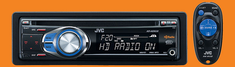 Jvc kdhdr20 car cd receiver 80w hd ipod and blu tooth ready