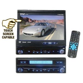Pyle - 7'' Motorized Touch Screen TFT/LCD Monitor with DVD/CD/MP3 Player/AM/FM/SD-USB - PLTS72A
