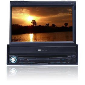 XO Vision X348NT 7-Inch In-Dash Wide Tocuh Screen Motorized DVD Reeiver