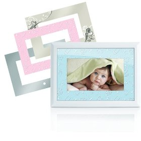 Memorex MDF0712-C 7-Inch Digital Photo Frame with 4 Frame Inserts