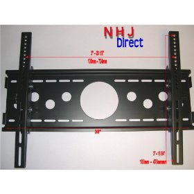 NHJ Directs Tilting Wall Mount Bracket for 32, 36, 42, 46,50, 52 inch Sony Bravia, Samsung, Vizio, Panasonic, Color: Black