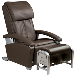 @panasonic rb ep1082tl brown massage chair with ottoman remot