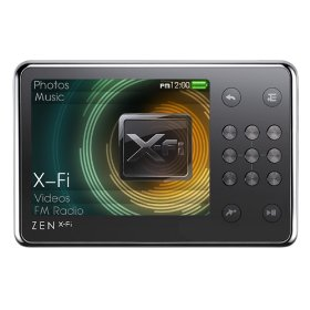 Creative ZEN X-Fi - Digital player / radio - flash 8 GB - WMA, AAC, MP3 - video playback - display: 2.5