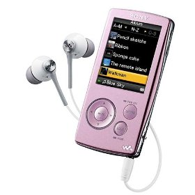 SONY DIGITAL MEDIA PLAYER/MP3 PLAYER - 4GB, PINK
