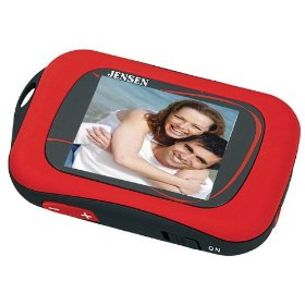 Jensen 1 GB Digital Media Player with 1.8-Inch TFT Color Display (Red)