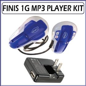 Finis SWIMP3 1G Waterproof 1GB MP3 Player with Universal Wall Charger