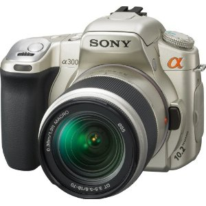 Sony Alpha DSLR-A300K/N 10.2MP Digital SLR Camera (Gold)
