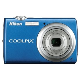 Nikon Coolpix S220 10MP Digital Camera with 3x  Optical Zoom and 2.5 inch LCD (Cobalt Blue)