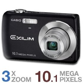 Casio EX-Z33BK 10.1MP Digital Camera with 3x Optical Zoom and 2.5 inch LCD (Black)