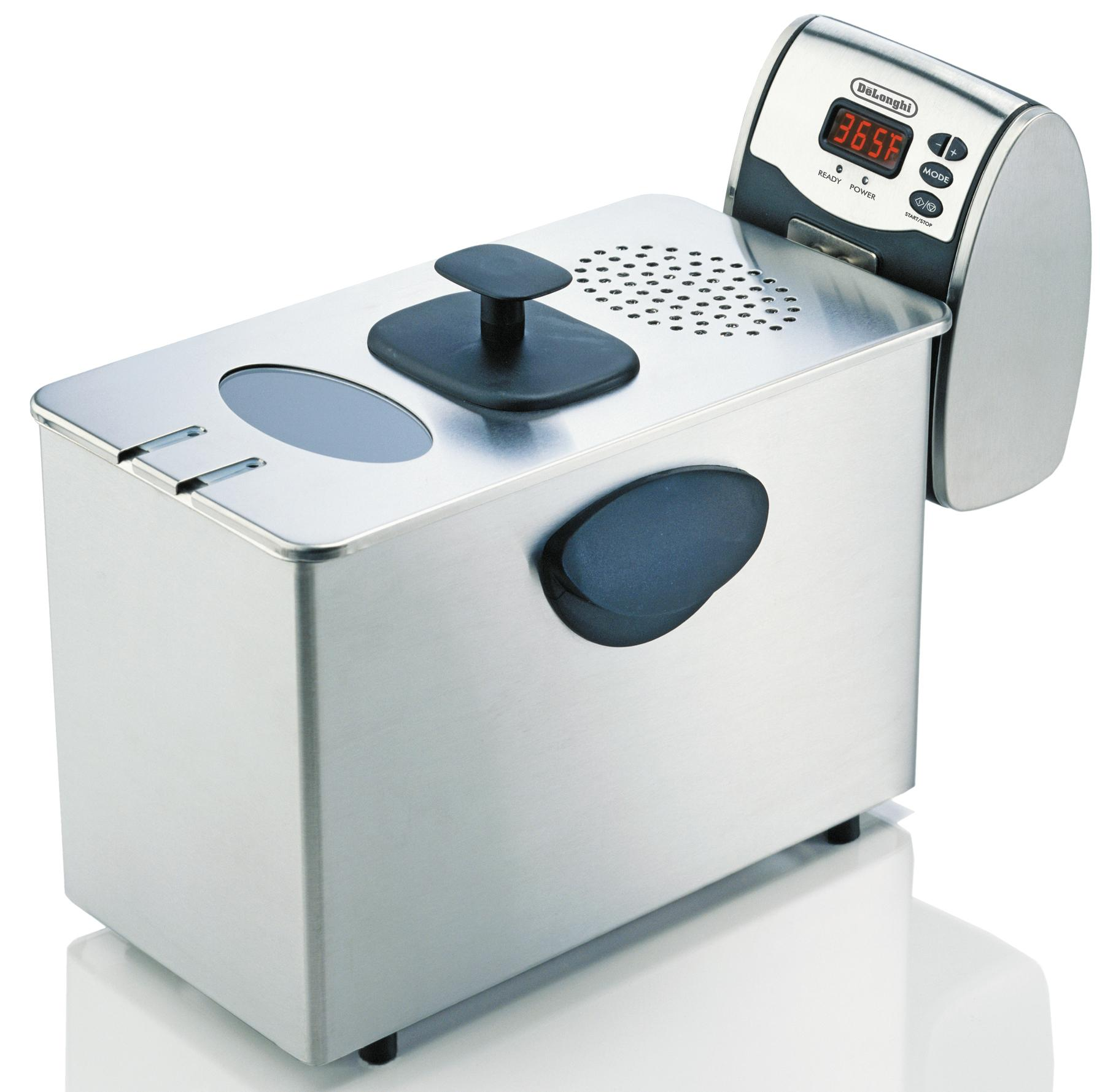 Delonghi d14427dz deep fryer steel 3lb dual zone digital
