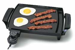 Presto 07211griddle liddle non stick builtin grease tray