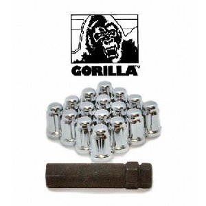 Gorilla Automotive 21132HT Small Diameter Acorn Chrome 4 Lug Kit (12mm x 1.50 Thread Size) - Pack Of 16