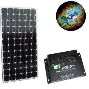 HQRP KIT (185 Watt Solar Panel 185W Power 24V Monocrystalline 24 Volt, Solar 20A Charge Power Controller / Regulator 12V / 24V 20 Amp) + HQRP Mousepad