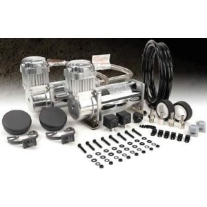 VIAIR VIAIR-40013 Dual 400C Air Compressor Value Pack (33% Duty 150PSI)