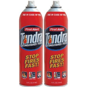First Alert AF400-2 Tundra Fire Extinguisher Aerosol Spray Twin Pack