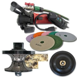 SECCO V40WVPOLSET 1-1/4-Inch Wet Polisher Full Bullnose Shaping and Polishing Kit