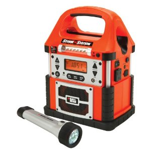 Black & Decker SS50B Storm Station With 50 Watt Power Inverter LED Flashlight And Digital AM/FM NOAA Weather Radio