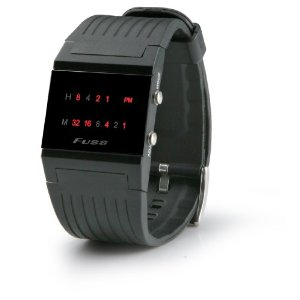 Men's Black, Sleek and Sophisticated, Binary Watch