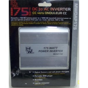 175 Watt Dc to Ac Car Power Inverter