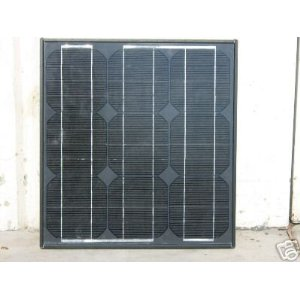 20 Watt Black Frame Mono-crystalline Solar Panel and Battery Charger