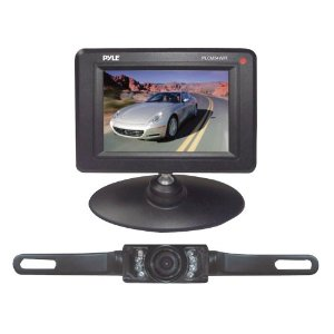 Pyle - PLCM34WIR; 3.5'' Monitor Wireless Back-Up Rearview & Night Vision Camera System