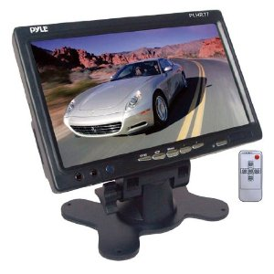 PYLE PLHR77 7'' Wide Screen TFT LCD Video Monitor w/Headrest Shroud and Universal Stand
