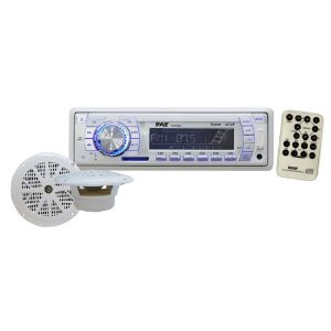Pyle PLMRKT33WT In-Dash Marine AM/FM PLL Tuning Radio with USB/SD/MMC Reader