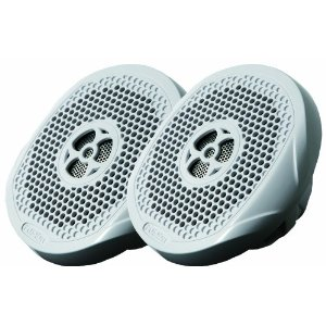 Fusion MS-FR402 4-Inch IPX65 2-Way 120 Watts High Performance Marine Speakers Includes Grills (White)