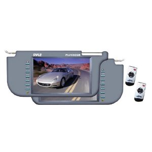 PYLE PLVS92GR Pair of 9.2-Inch TFT/LCD Left and Right Sun Visor Monitor (Grey)