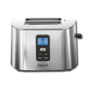 Krups TT6190 Stainless-Steel 800-Watt 2-Slice Digital Toaster