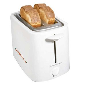 Proctor Silex Cool Touch 2-Slice Toaster, White