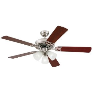 Westinghouse 7867865 Vintage 52 Inch Ceiling Fan, Brushed Nickel Finish