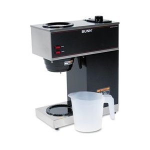 VPR 12-Cup Pour-Over Coffee Brewer w/2 Warmers (Black)