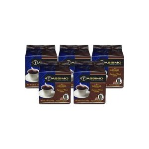 Braun 01319-5PACK Tassimo Signature Blend Regular Coffee Pods, 80 Pods