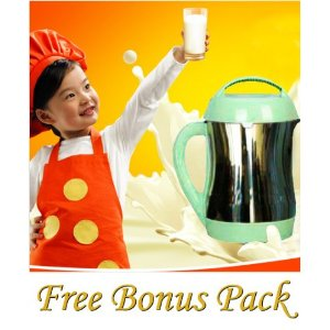 Joyoung CTS1048 Automatic Hot Soy Milk Maker with FREE Soybean Bonus Pack