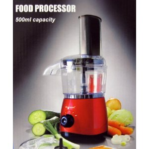 Brentwood FP-535 500ml Capacity Food Processor RED