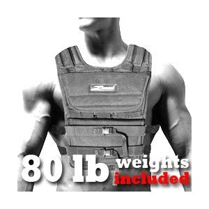 NEW! ZFO-80LBS Adjustable Weighted Vest (WEIGHTS INCLUDED)