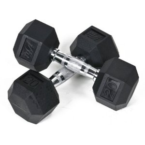 Rubber Dumbbell 20 pound weight/2