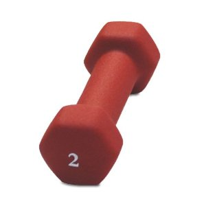 Cap Barbell Neoprene Dumbbell (Red, 2-Pound)