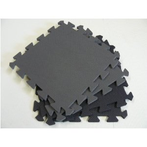 24 Sq. Ft. (set of 24 tiles + borders) 'We Sell Mats' Anti-Fatige Interlocking EVA Foam Flooring-Each 12