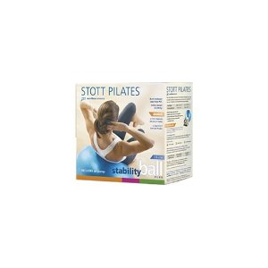 Stott Pilates Stability Ball Plus Gift Pack with DVD (Blue, 55 cm)