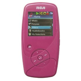 RCA M4018 Opal 8GB Flash MP3 / MP4 (Video) Player with 1.5 inch Full Color OLED Display, Voice Recording and Built-in Microphone (Color: PINK)