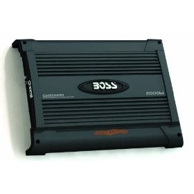 BOSS 09CW2000M CHAOS WIRED 2000 Watts Mosfet Monoblock Power Amplifier with Subwoofer Level Control