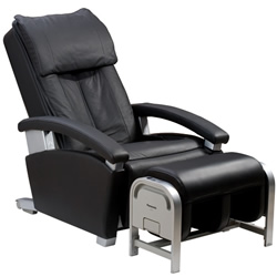 @panasonic rb ep1082kl black massage chair with ottoman remot