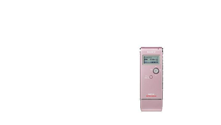 Sony icdux70 pink voice recorder digital