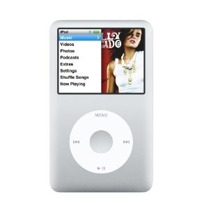 Apple iPod classic 80 GB Silver (6th Generation) OLD MODEL